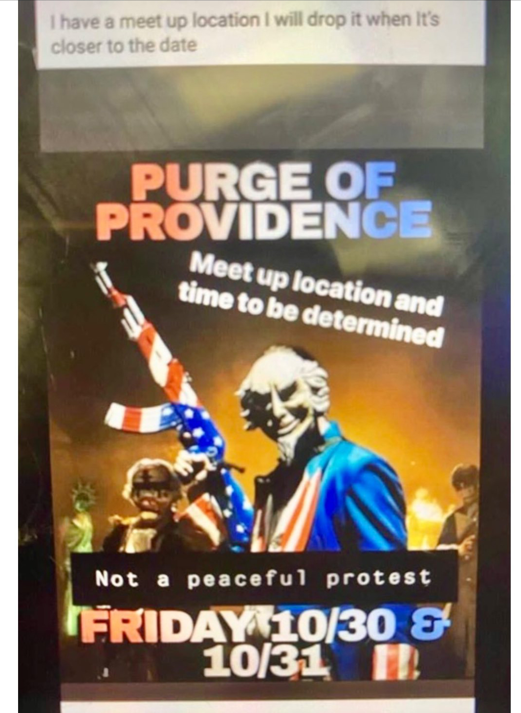 Is The Providence Purge coming?