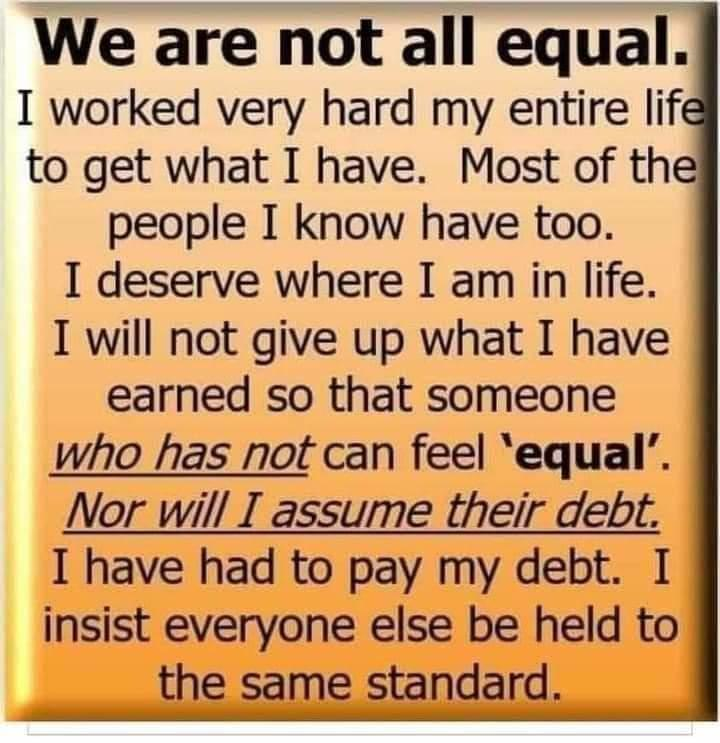 We are not all equal.