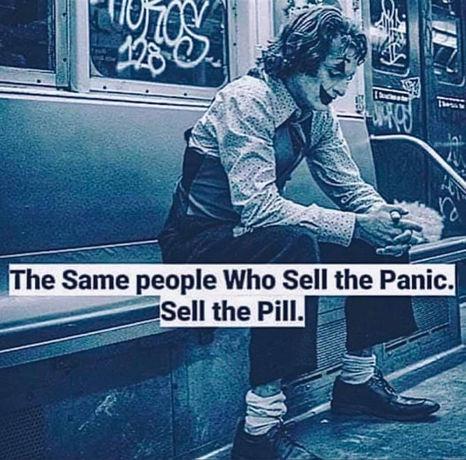 The people who sell the panic . . .
