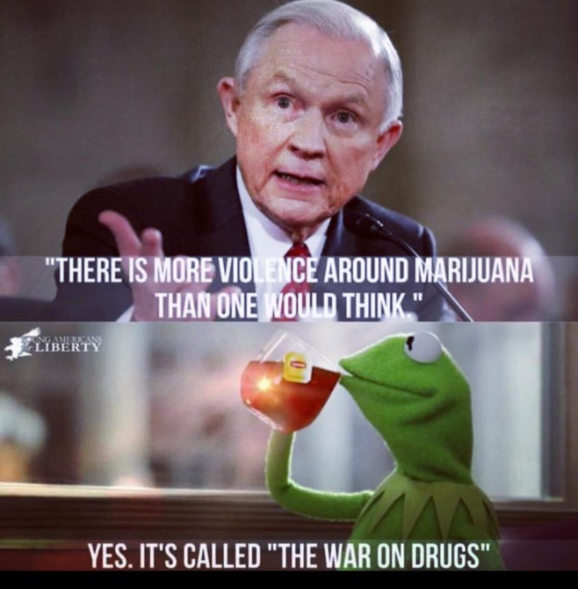 It's called the war on drugs . . .